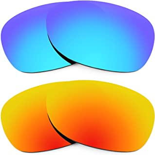 Replacement Lenses for Ray Ban New Wayfarer 52mm RB2132 2 Pair Combo Pack K002