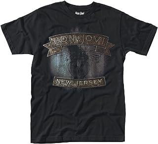 Unbekannt Bon Jovi New Jersey Männer T-Shirt schwarz Band-Merch, Bands