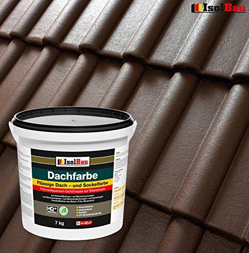 Dachfarbe Sockelfarbe Dachbeschichtung Dachlack Dachsanierung Polymermembran 7 kg Braun