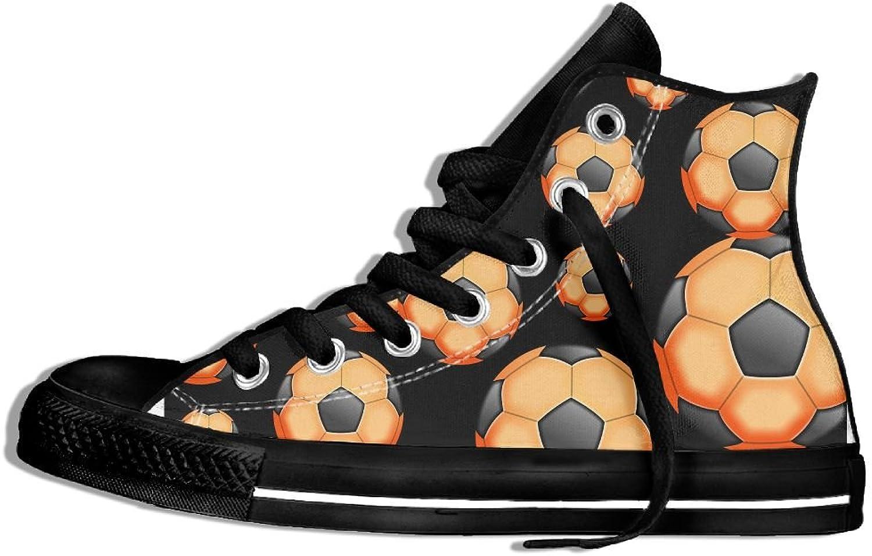 Unisex High Top Canvas Sneaker Soccer Balls Women Classic Lace Ups Canvas shoes
