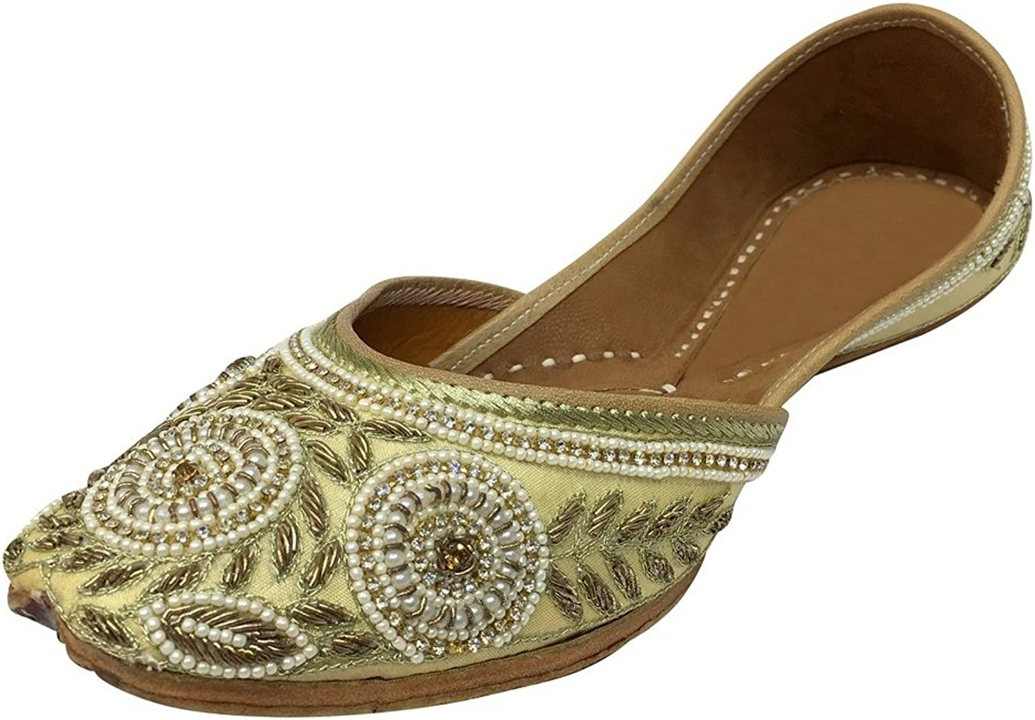 Step n Style Embroidered Handmade Women Ballet shoes Mojari Sandel Juti Flat Khussa DD995