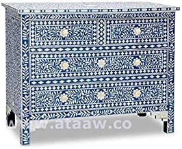 Anjaneya Art Bone Inlay Sideboard Handmade Designers Inlay Furniture