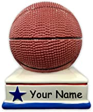 Personalized Sports Basketball Shaped Ceramic Piggy Bank Coin Bank with Custom Name