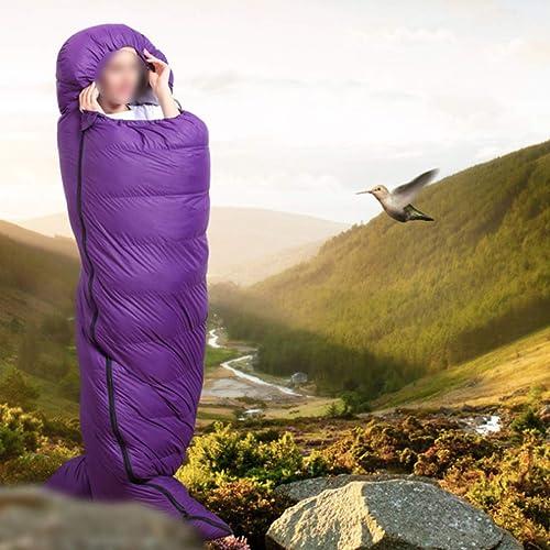 ArougeOVL Sac de Couchage en Duvet pour Le Camping, la randonnée, Les Voyages (Couleur   violet, Taille   1800g)