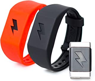 Shock Clock Wake Up Trainer with Additional Silicone Band (Red) and Exclusive Habit Change eBook - Wearable Smart Alarm Clock - Never Hit Snooze Again