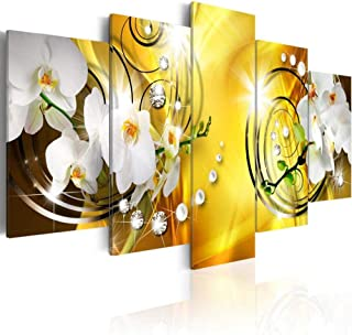 5 Panel Wall Art 5 Pieces/Set Pearl Orchid Flower Wall Flower Canvas Love Painting
