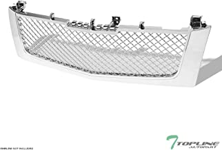 Topline Autopart Chrome Mesh Front Hood Bumper Grill Grille ABS For 02-06 Cadillac Escalade