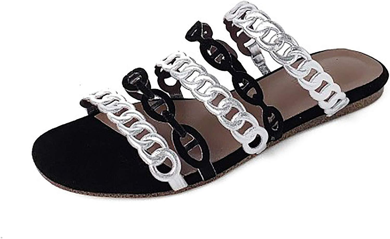 Calaier Donna Capida 1.5CM Senza Tacco Scivolare su Pantofole Calzature, argentoo Nero, 37.5