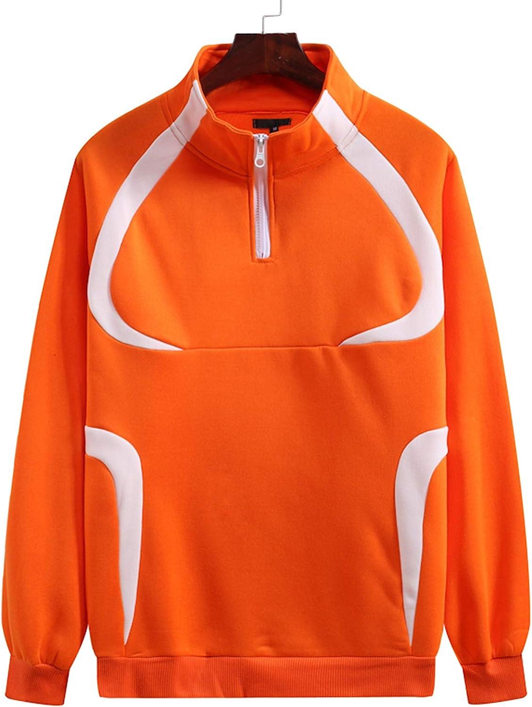 Rela Bota Men's Half Zip Crewneck Sweatshirt - Solid Long Sleeve Athletic Pullover