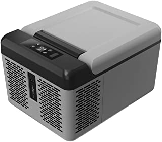 Portable Refrigerator/Freezer/Fridge 10 Quart(9 Liter), Mini Car Truck RV Boat Compact Fridge Electric Cooler for Travel, ...