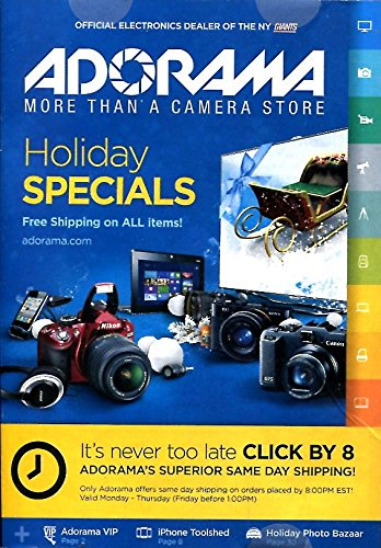 ADORAMA HOLIDAY SPECIALS CATALOG /ELECTRONICS /PHOTOGRAPHY /COMPLETE DETAILS /ILLUSTRATED+++