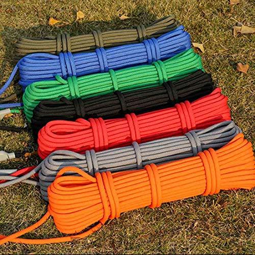 Tuzi Qiuge Outdoor Klettern Seil, Outdoor Rock Klettern Wandern Zubehör Hohe Festigkeit Hilfskorne Sicherheit Seil, Größe: 10m * 6mm, Zufällige Farbe QiuGe