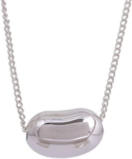 Silver White Cultured Freshwater Pearl .925 Silver Necklace, 19