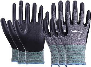 Wostar Working Gloves, 3Pairs Non-slip Gloves Coating Bare hand Sensitivity Gardening Gloves for Women and Men Wostar Working Gloves, 3Pairs Non-slip Gloves Coating Bare hand Sensitivity Gardening Gloves for Women and Men
