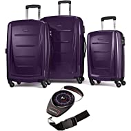 56847-1717 Winfield 2 Fashion Hardside 3 Piece Spinner Set 20 Inch, 24 Inch, 28 Inch - Purple...