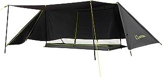 ATEPA パップテント 軍幕 キャンプ 収納コンパクト 1人用 4シーズン適用 ソロ テント 多機能 軽量 日よけ 遮光 防風 防水3000mm