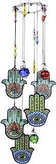 手形模様風鈴、ファーティマの手モチーフウィンドベル、幸運ウィンドチャイム、邪視から身を守る護符