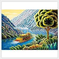 MKKM 夢の川の川の風景ジグソーパズルジグソーパズル1000個のピースの装備の組み立て絵風景教育玩具大人の子供たちのゲーム子供の贈り物25.5 * 20.3 * 7.5Cm減圧キット
