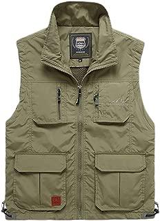 XXT Vest Outdoor Multi-Pocket Summer Tooling Vest Thin Section Practicality (Color : Khaki, Size : XL)