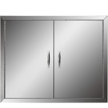 Amazon Com Mophorn Outdoor Kitchen Access 17 X 24 Wall Construction Stainless Steel Flush Mount For Bbq Island 17inch X 24inch Single Door With Vents Garden Outdoor