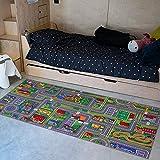 Carpet Studio Tappeto Bambini 95x200cm, Tappeto per Bambini per Cameretta & Stanza dei Giochi Ragazzi e Ragazze, Lavabile in Lavatrice, Facile da Pulire, Antiscivolo - Playcity
