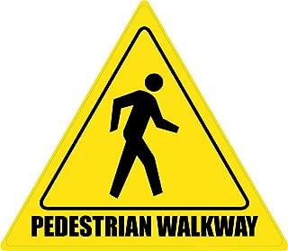 Mesllings Safety Warning Metal Sign Pedestrian Walkway Floor Sign 12