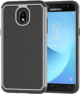 Galaxy J3 2018 Case,Galaxy J3 Star Case,J3 Achieve Case,Galaxy Express/Amp Prime 3 Case,Galaxy J3 V 3rd Gen/J3 Orbit/J3 Aura/Sol 3 Case,Asmart Defender Cover Phone Case for Samsung Galaxy J3V,Gray