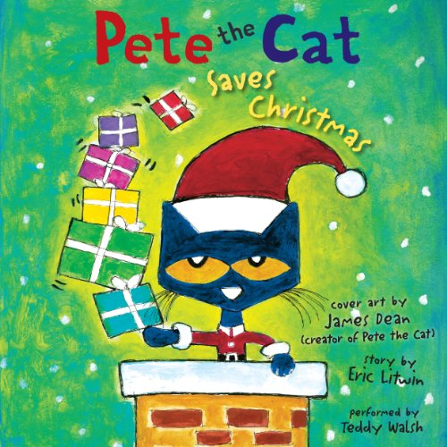Pete the Cat Saves Christmas audiobook cover art