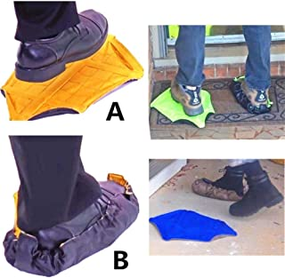 Kisangani Sock Hands Free Shoe Covers Reusable Shoe Boot Cover Durable Portable Automatic Shoe Covers for Home Use