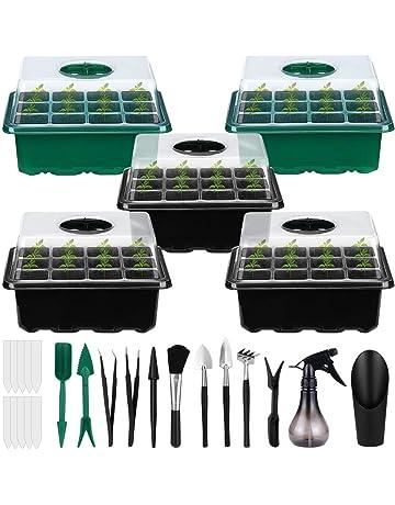 Semina Seminiere Plateaux Di Piante a Partire Kit Semenzaio Grow Tray 32 Celle Per Partire Piantagioni Propagazione Germinazione 10pcs