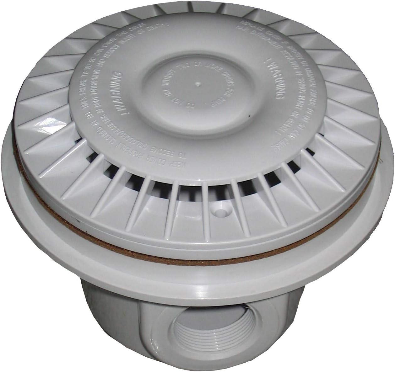 SPIRATO Spiranto - Desagüe de Suelo para Piscinas de plástico y Listas, Color Blanco