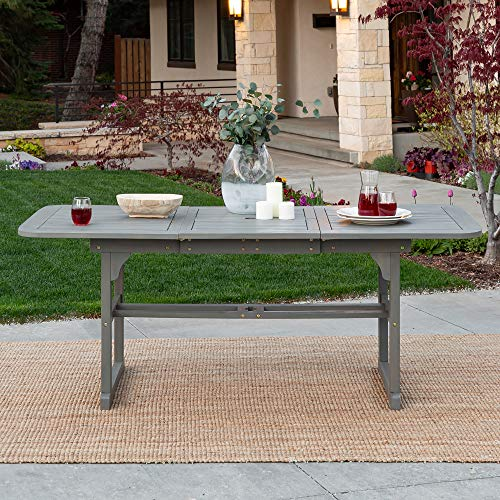 Extendable Outdoor Dining Table - Grey Wash