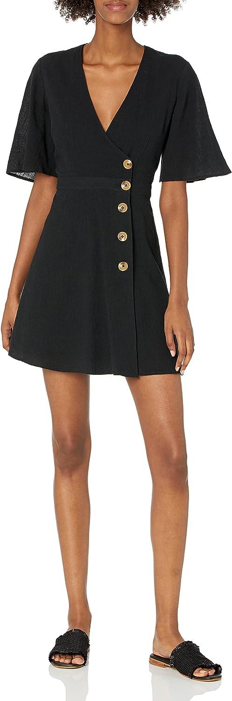 The Fifth Label Women's Movement Flutter Sleeve Short Wrap Top Mini Dress