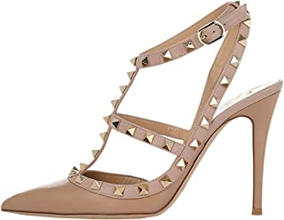 Women's Slingbacks Strappy Sandals for Dress,Pointy Toe Studs High Heels Sandals Shoes