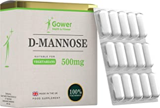 D Mannose Capsules 500mg 60 Pack – for UTI Cystitis Support Bladder Urinary Tract Health Vegetarian Vegan – Manufactured in ISO Licenced Facilities in The UK Estimated Price : £ 19,99