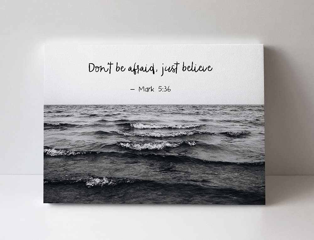 Religious Wall Art Canvas Max 74% OFF for Courier shipping free shipping Teen Don't Be Just Afraid - Boy
