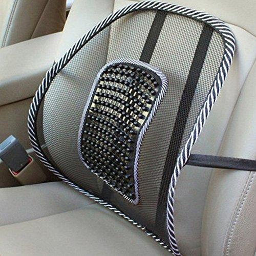 Xiton en maille lombaire pour le dos support de siège de voiture Coussin d'assise au bureau, à la maison, Noir
