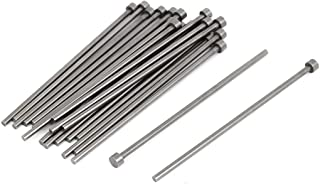 uxcell Steel Round Straight Ejector Pins 6mm Head 3mm Shank 20pcs Gray