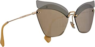 Miu Miu MU56TS Sunglasses Opal Sage w/Light Brown Mirror Gold 63mm Lens BY61C0 MU 56TS SMU 56TS SMU56T