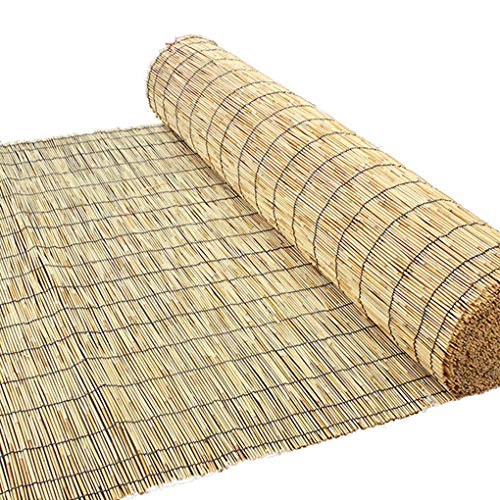 Cortina de láminas naturales, persianas enrollables de bambú, cortinas decorativas retro, persianas de persianas, privacidad, persianas de bambú, decoración de muebles de interior para exteriores
