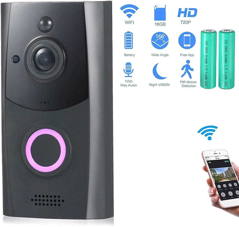 KUKUDIJIE 2Way Talk Video Doorbell Wireless Smart 720P HD WiFi