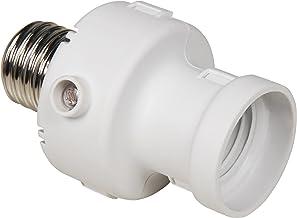 con sensor crepuscular y detector de movimiento base de la bombilla E27 Electraline 58309 Portal/ámparas blanco