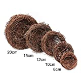 5pcs/Pack Natural Grapevine Rattan Birds Nest Craft Art Spring Garden Yard Home Wedding Party Easter Decoration-10CM