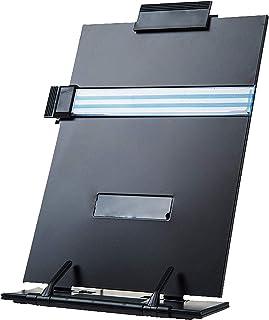 DELFINO Desktop Document Holder with Adjustable Clip and Line Guide - Universal Adjustable Desktop Document Holder,Copy Ho...