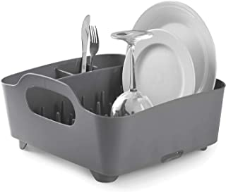 Umbra Tub Dish Drying Rack – Lightweight Self-Draining Dish Rack for Kitchen Sink and Counter at Home, RV or Motorhome, Ch...