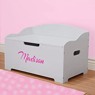 DIBSIES Personalization Station Personalized Modern Expressions Toy Box (Gray Signature Series Girls)
