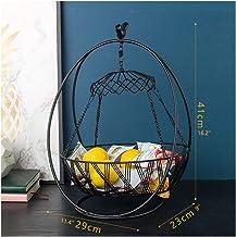 Bol de fruits Fruit Basket Paniers de suspension for Storag Cuisine Rangement Salon acier inoxydable ménages fruits Organi...