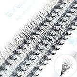 ICYCHEER Natural Long Curl Individual Cluster Eyelash False Eyelashes Extension 7-13mm (10P-007C, 10mm)