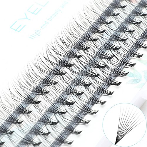 ICYCHEER Pro 0.10/0.07C 7/8/9/10/11/12/13mm Naturel Long C Curl Cils Individuels Extension de Faux Cils (007C, 12mm)
