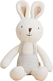 Blessnature]100% Organic Stuffed Animal, Baby Doll, Tri-Colored Plush Toy(Baby's Bunny ToTo) _12in